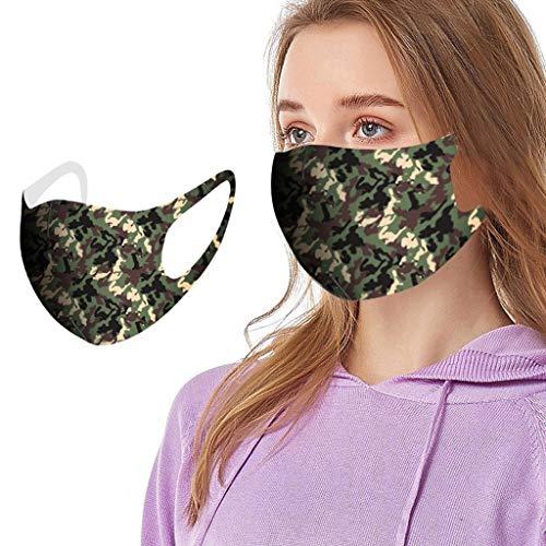LUCKME Mundschutz mit Sternenhimmel drucken Waschbar Baumwolle Atmungsaktive Staubdicht Mund und Nasenschutz Face Covering für Damen Herren