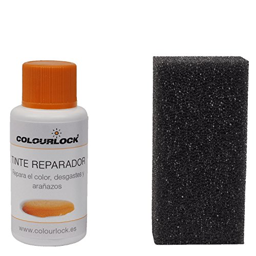 COLOURLOCK Tinte reparador Cuero/Piel F046 (Gris Antracita ESTÁNDAR), 30 ml restaura el Color del Cuero en Coches, sofás, Ropa, Bolsos