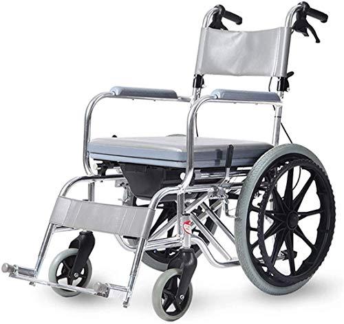 RollstuhllaufendeHilfsmittel Rollstuhl UltraleichterRollstuhl aus Aluminiumlegierung,Klappbarer Transportstuhl mit Tragetasche,Wiegt nur 7,5 kg für einfaches Reisen - Rollstuhl mit rotem Antrieb