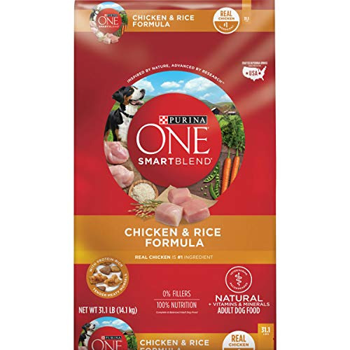 Purina ONE Natural Dog Food, SmartBlend Chicken and Rice Dog Food...