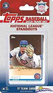 2019 Topps Baseball National League STANDOUTS EXCLUSIVE Special Limited Edition 17 Card Complete Set with Bryce Harper, Ronald Acuna Jr, Nolan Arenado, Kris Bryant & Many More Superstars! WOWZZER!