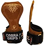 Cobra Grips FIT Leather Weight Lifting Gloves Heavy Duty Straps, Alternative to Power Lifting Hooks, Power Lifting for Deadlifts with Built in Adjustable Neoprene