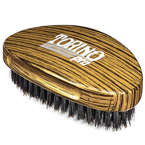Torino Pro Medium Hard Palm Curve Wave Brush By Brush King - #1780-360 Curved Medium Hard Palm - Great for Wolfing - For 360 Waves