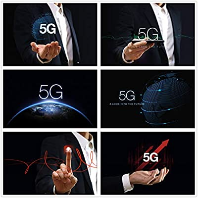 Contracted 5 g era 5 g network concept of science and technology communication technology 5 g background poster PSD template design material 0241