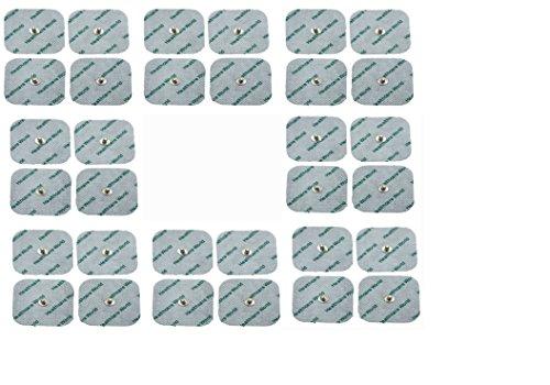 Healthcare World TENS Almohadillas Electrodos paquete de 32 compatible con Beurer EM 40, EM 41, EM 80 50 x 50 mm