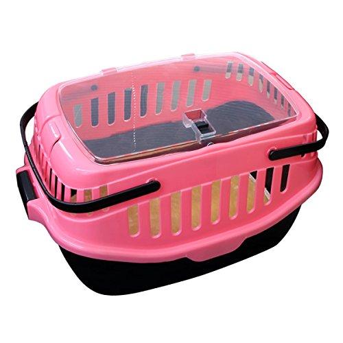 WEIMALL ペット キャリー バッグ 猫 ねこ ネコ 犬 うさぎ キャリーバッグ キャリーバック キャリーケース (7kgまで) ピンク