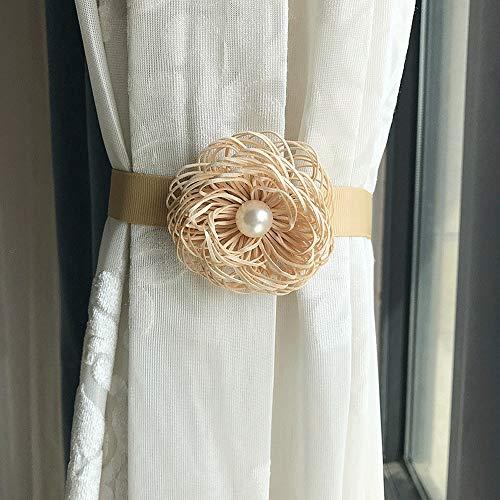 Wyaenghai Gordijn Tie 1 paar bloemengordijnen gesp creatieve vrije installatie zonder gaatjes gordijn clip slaapkamer badkamer woonkamer gordijn gespen
