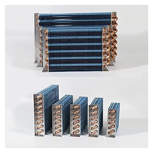 JIAN Intercambiador de Calor del Tubo de Cobre Ajuste para enfriamiento físico Condensador con Condensador Refrigerador Aluminio Aleta Intercambiador de Calor pequeño sin cáscara Exquisite