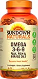 Sundown Omega 3-6-9 Soft Gels, 200 Count