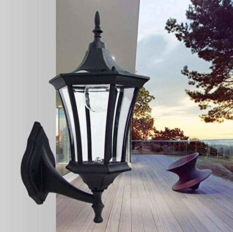 Solarleuchten, Gartenleuchten Solar Wandleuchten, Outdoor Villa High Brightness Wandleuchten weies Licht XIAOXAIO