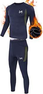 Men's Thermal Underwear Set, Sport Long Johns Base Layer for Male, Winter Gear Compression Suits for Skiing Running