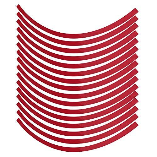 Yctze 16er Felgenstreifen Felgenband Dekor Zierleisten Passend für 16-19 Zoll Auto, Fahrrad und Mortorcycle Felgen(Groß rot)