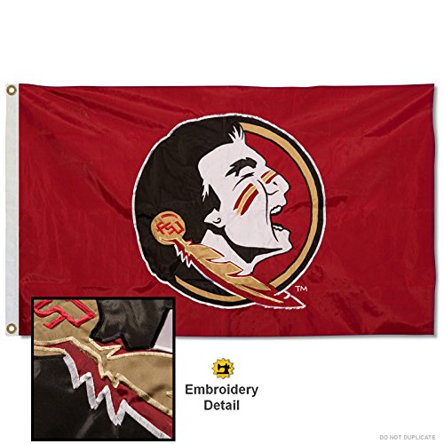 College Flags & Banners Co. Florida State Seminoles Embroidered and Stitched Nylon Flag