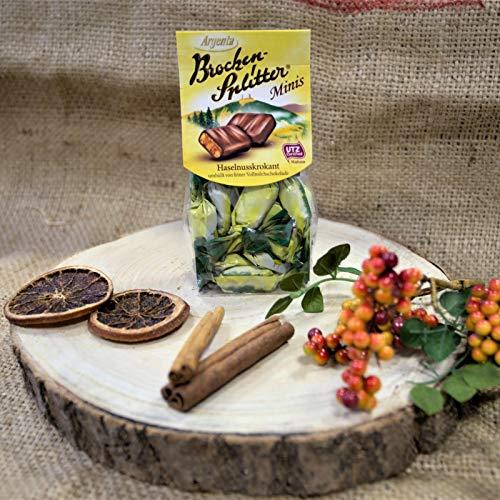 Brocken-Splitter Minis | Schokoladenspezialität mit Krokant und Zartbitterschokolade | Harzer Spezialität
