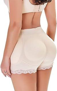 معزز الورك الزائف، سروال داخلي للبنات الرباط معزز الورك مبطن ملابس داخلية داخلية بوي شورت للنساء (اللون: أسود، الحجم: M)