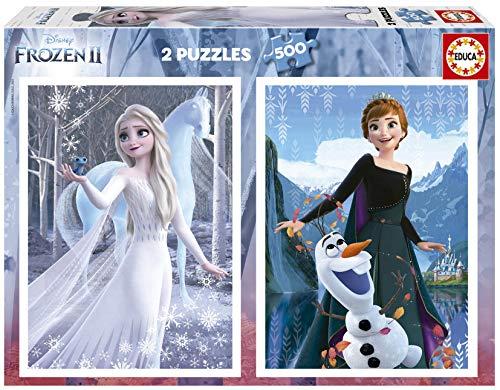 Disney Frozen II. 2 Puzzles de 500 Piezas de Ana y Elsa. Ref. 19016