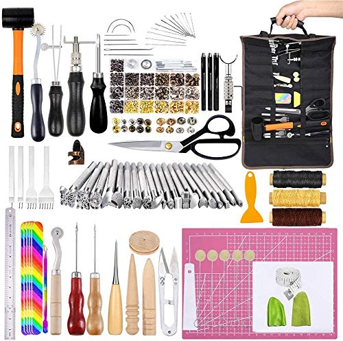 Leather Craft Kits, Leather Tool Set with Manual, Leather Craft Tool with...