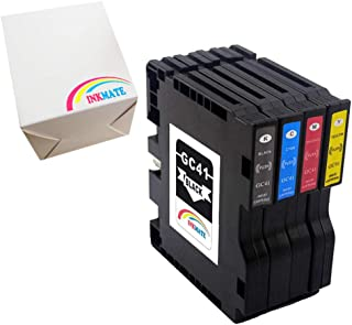 INKMATE Compatible Ink Cartridge Replacement for GC41 Transfer SUB Pigment for Ricoh Aficio SG2100 SG3110DN SG2010 1BK/1C/1Y/1M 4Pack