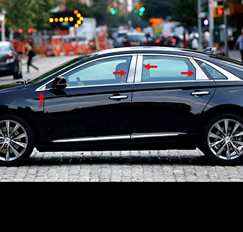 Made in USA! Works with 2013-2019 Cadillac XTS 8PC Stainless Steel Chrome Pillar Post Trim