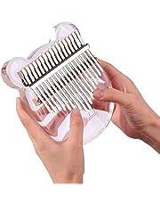 Muslady 17-Kleutel Kalimba duim piano transparant acryl materiaal met draagtas muziek noot sticker stemhamer poetsdoek muziekcadeau