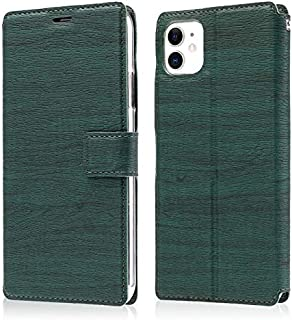 Apple Leather Case Compatible with iPhone 11 6.1 Inch Case, Ultra-Thin Tree Texture Mobile Phone Anti-Fall Protection Flip...