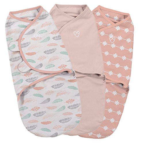 SwaddleMe Original Swaddle Coral Days Small 03 MonthsPack of 3