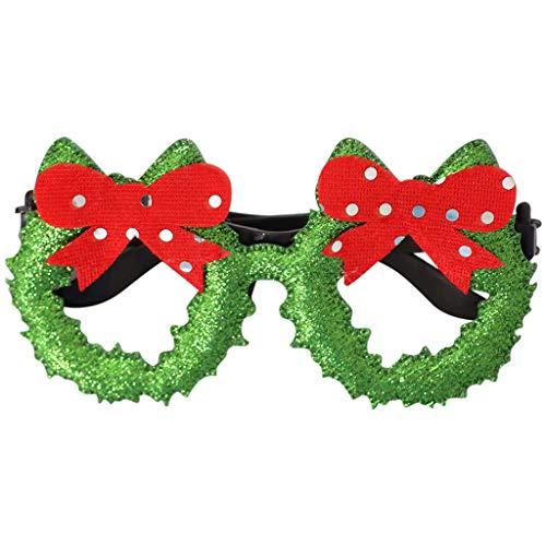 Xniral Brille Rahmen Niedlichen Cartoon Weihnachtsbrille Cartoon Verkleiden Kreative Brille Rahmen(K)