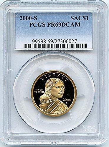 2000 S Proof Sacagawea Dollar PCGS PR 69 DCAM New Blue Label Holder