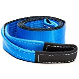 Driver Recovery 3' x 8' Tow Strap - Recovery Winch Tree Saver - Extreme Heavy Duty Nylon 30,000 Pound (15 Ton)...