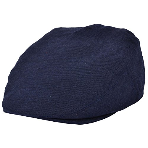 Casquette plate unisexe légère en lin disponible en 4 couleurs et 3 tailles - Bleu - 58 cm