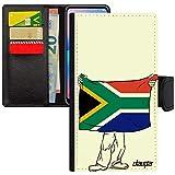 utaupia Coque Drapeau Afrique du sud Africain Apple iPhone 6 6S Plus Portefeuille Rugby Jeux Olympiques Foot Caoutchouc de Protection Etui