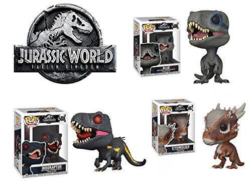 Funko Pop! Jurassic Park : Blue + Stygimoloch + Indoraptor
