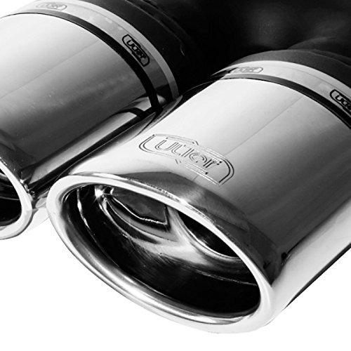 Échappement double compatible avec Opel Astra H Combi 1.3 CDTi 66kW/1.7 TDCi 59/74kW/1.9 TDCi 88/110kW 2004-2009 2x 95x65mm