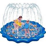 "Splash Pad for Kids, 68"" Outdoor Summer Splash Mat with Alphabet for Toddlers,..."
