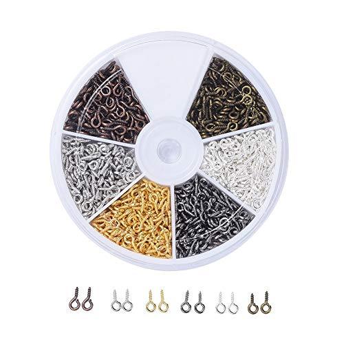 720 unids/pack pequeños ojos de ovejas clavo tornillo de joyería accesorio uñas cuentas colgante DIY joyería accesorios