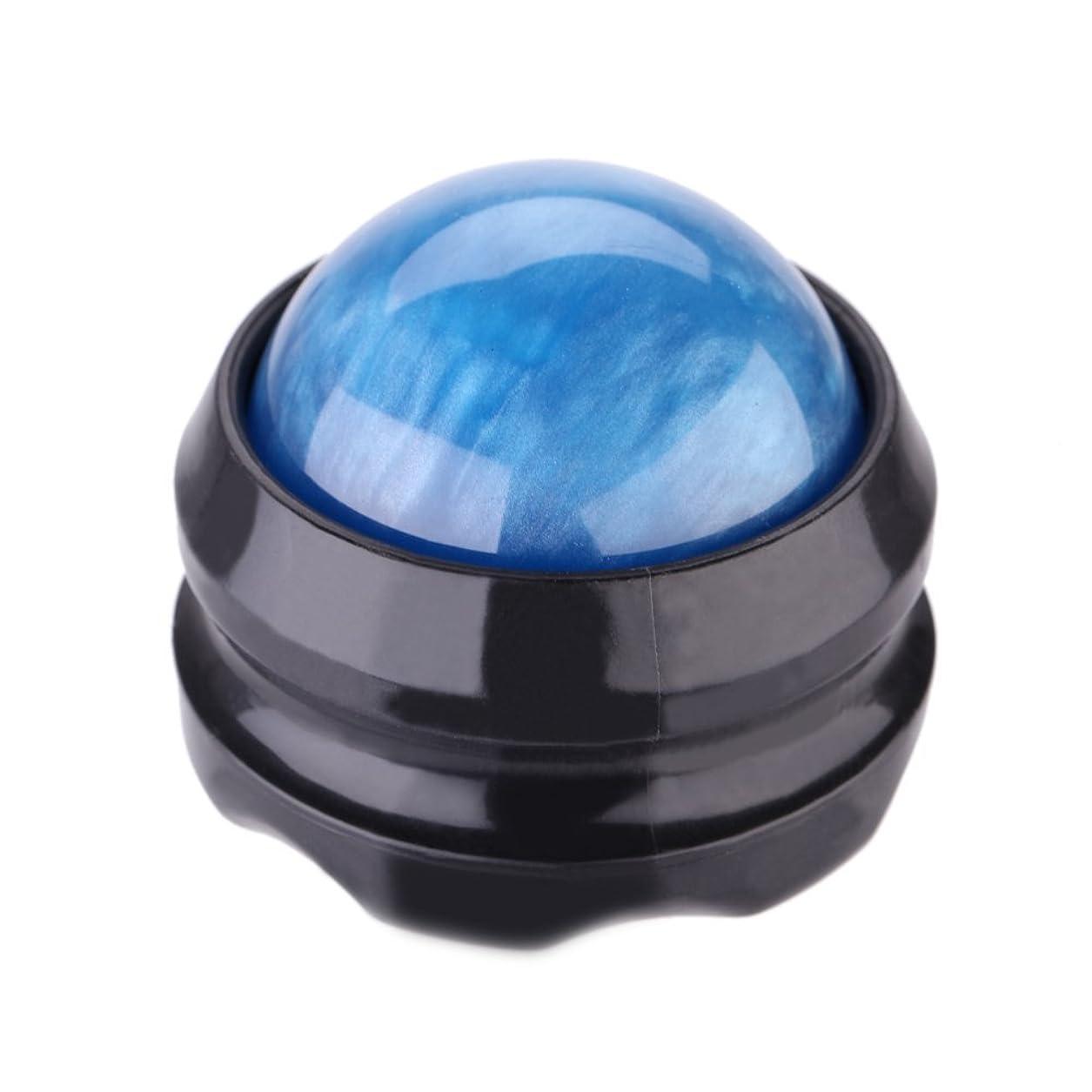 酸うるさいかろうじてTrueland マッサージ ボール 360度回転 背中 首 腰 筋膜リリース 健康器具 (青)