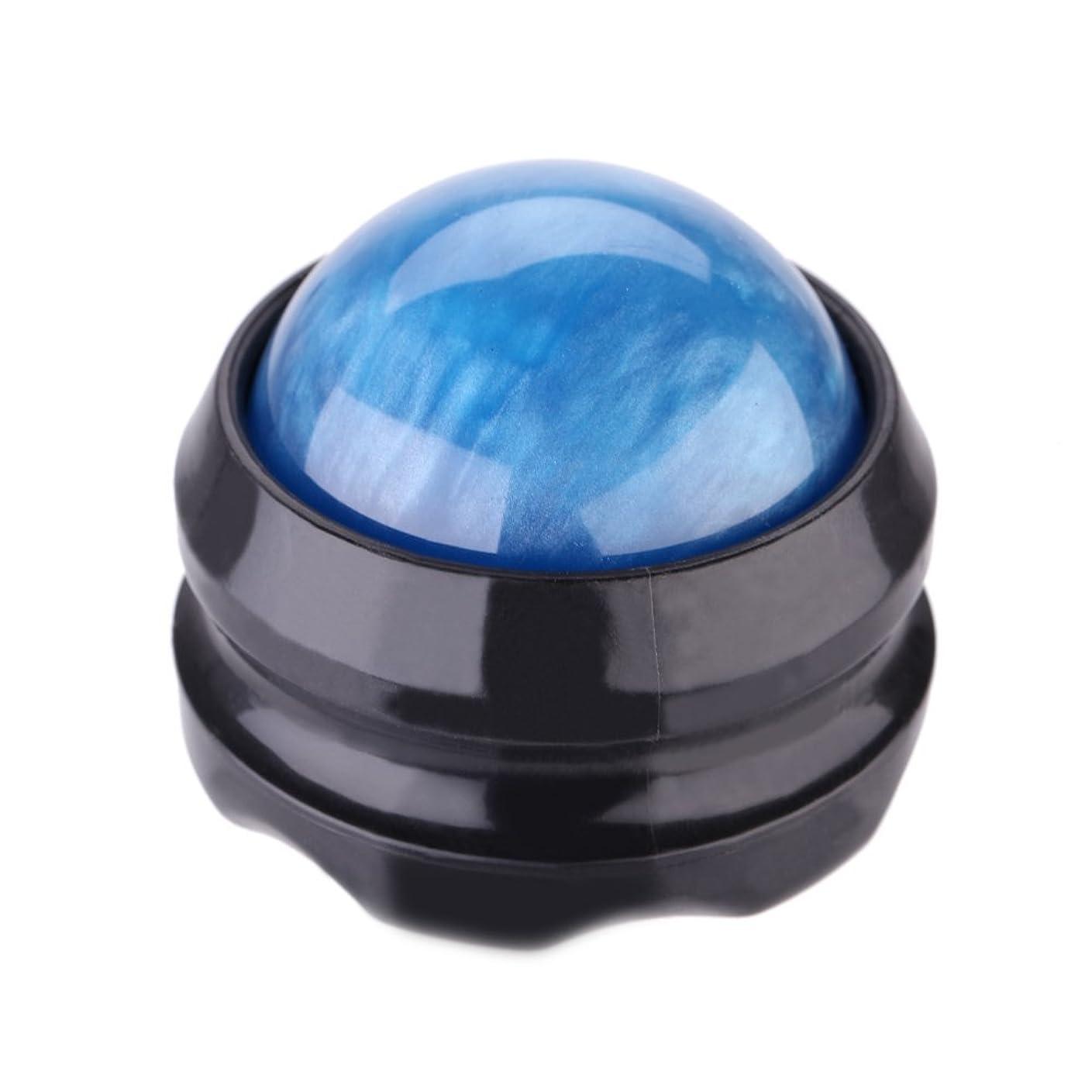 合体コンサルタントエピソードgundoop マッサージ ボール 360度回転 背中 首 腰 筋膜リリース 健康器具 (青)