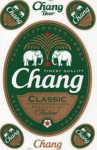 Chang Bier Beer Classic sticker sticker folie 1 vel 270 mm x 180 mm weerbestendig