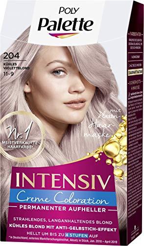 SCHWARZKOPF POLY PALETTE Intensiv Creme Coloration 204/11-9 Kühles Violettblond, 3er Pack (3 x 128 ml)