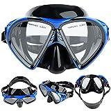 Gafas de snorkeling, vidrio templado Hecho de visión amplia Gafas de gafas de lente Mascarilla de buceo Snorkeling