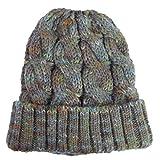 Farbe Wool Cap Warm Warm Urinal Cap Weiche Elastische Strickmütze 21 * 21Cm Grau