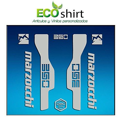 Ecoshirt 2Y-9NK7-V0FN Autocollants Fourche Fork Marzocchi 350 Am32 Stickers Aufkleber Decals Stickers Bike BTT VTT Cycle Argent 26\