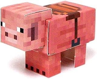 Jazwares Minecraft Pig with Saddle Papercraft [Single Piece]