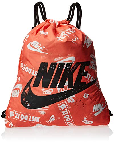 Nike Heritage Graphic Gym Sack Trainingsbeutel, Turf orange/Black/Black, MISC