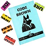 Downtown Pet Supply Fun Pet Dog Doggie Cat Poop Waste Bags for Large and Small Dogs, Refill Rolls with Poop Bag Dispenser Holder for Leash (180 Bags)