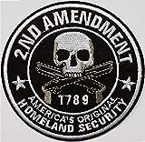 10cm Second Amendement Arme États Unis Amérique 1789 Tête Mort Sécurité...