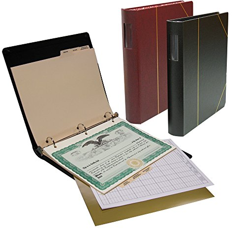 "Corporate kit VP Combo (Limited Liability Company): 1 1/2"" Minute Book Binder, Stock Certificates, Index Tabs, NO Slipcase- Black"