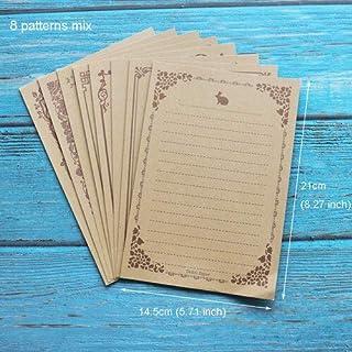 Kraft Black Letter Paper 16sheets Vintage Flower Design Letterhead Letter Writing Paper Letter Pad Drawing Sketch Pad Stat...