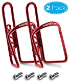 Aduro Bike Water Bottle Holder Aluminum Cage, [2X Pack] Bicycle Water...