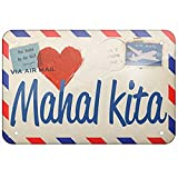 TEcell 8X12 Metal Sign-I Love You Filipino Love Letter from The Philippines Home Coffee or Bar Wall Decor